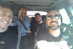 DronKTS - Pita Valley team en route to an intellectual property convention at AAPOD (Andalusian Association of Pilots and Drones Operators). (March 2017)